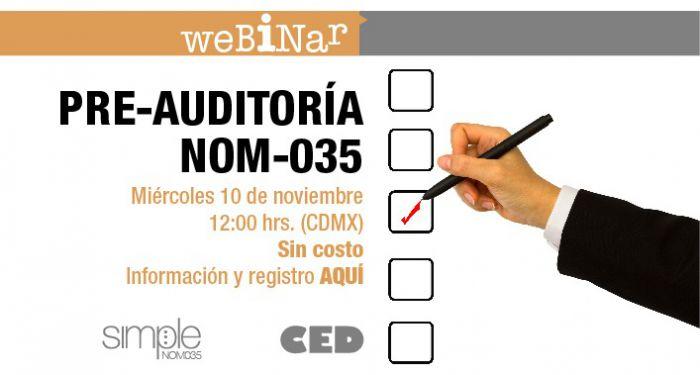 PRE-AUDITORÍA NOM035
